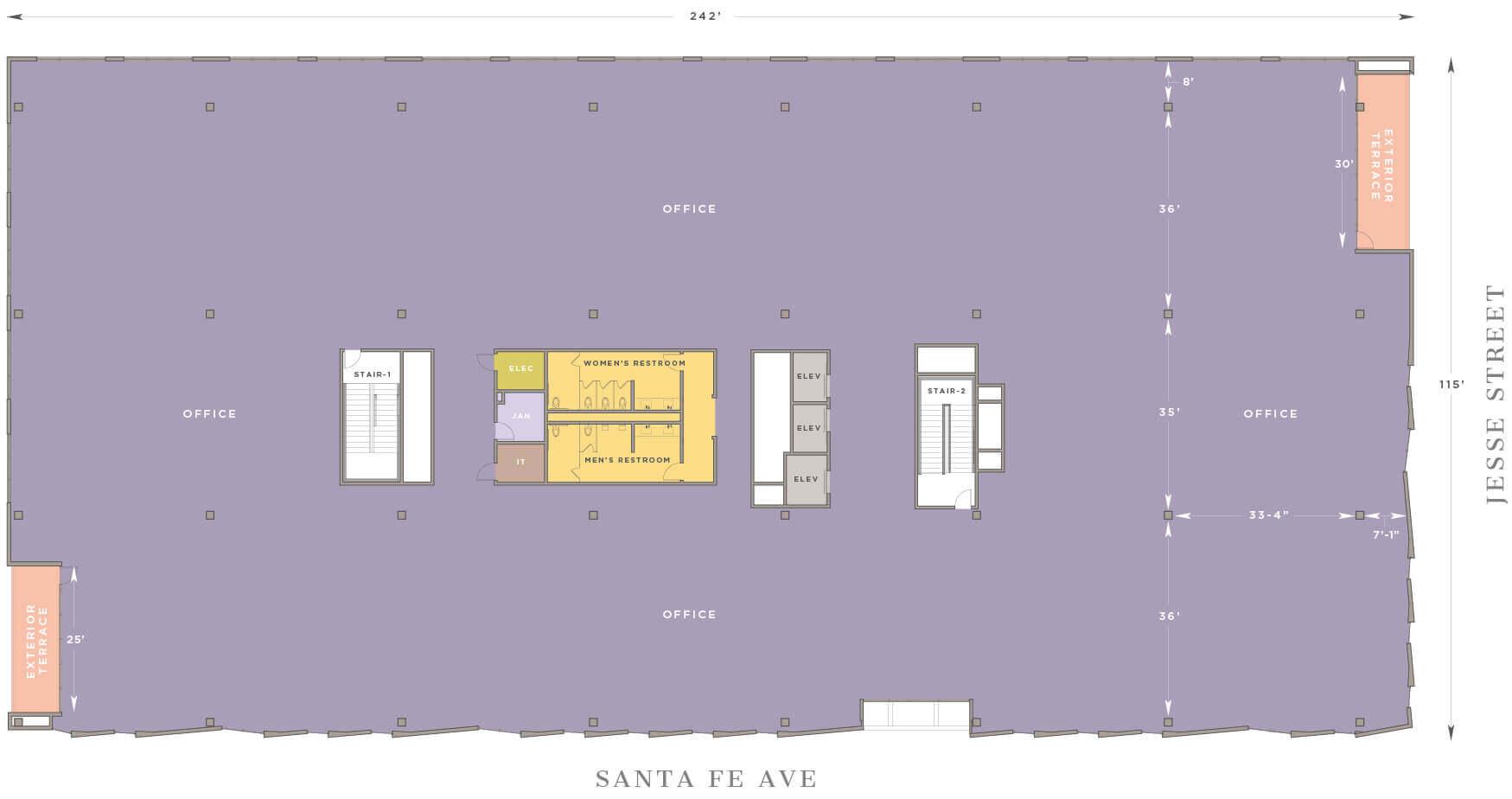 floor 2 m 1